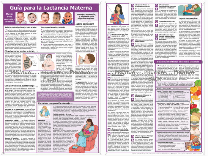 SPANISH GUIDE TO BREASTFEEDING